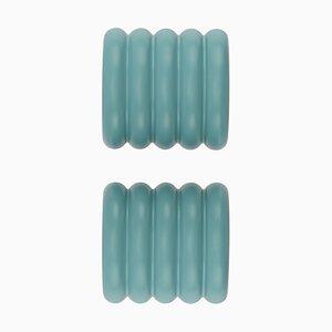 Colgadores ONoff en azul de Bicolter Studio para EO - elements optimal. Juego de 2