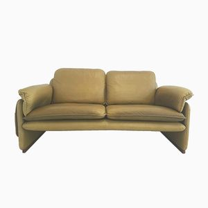 DS-61 2-Seater Sofa in Olive Green Leather from de Sede, 1980s