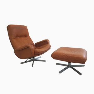 DS-231 Lounge Chair with Ottoman from de Sede, 1970s