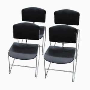Vintage American Max-Stacker Chairs from Steelcase, Set of 4