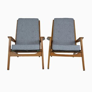 Vintage FS 105 Armchairs by Pierre Guariche for Airborne, Set of 2