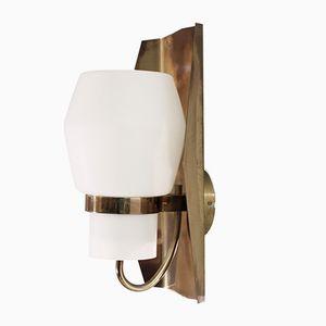 Lámpara de pared noruega de latón de Jonas Hidle para Høvik Verk, años 60