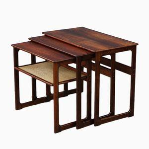 Mid-Century Rosewood Nesting Tables by Johannes Andersen & Illum Wikkelsø for CFC Silkeborg