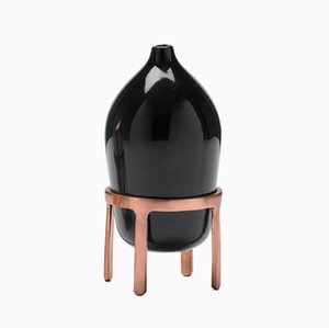 Black Ceramic Aether Oil Lamp by Jaime Hayon for Paola C.