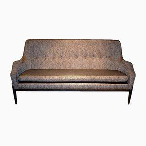 Scandinavian Black & Gold Sofa by Ib Kofod Larsen, 1950s