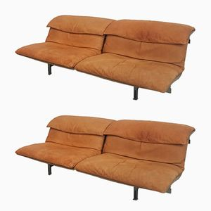 Wave Sofas by Giovanni Offredi for Saporiti, 1970s, Set of 2