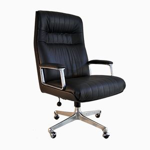 Mid-Century P128 Executive Desk Chair by Osvaldo Borsani for Tecno