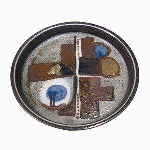 Large Swedish Ceramic Plate by Drejar Gruppen for Rorstrand, 1976