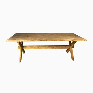 Bleached Fir Table, 1950s