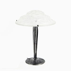Vintage Large French Art Deco Table Lamp by David Gueron for Degué