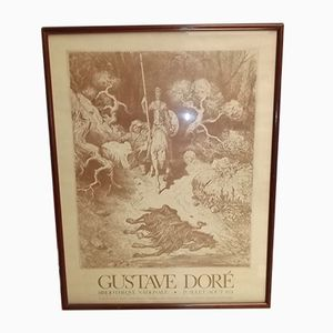Póster de Don Quijote de librería nacional de Gustave Doré, 1974
