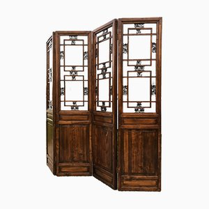 Chinese Wooden Room Divider, 1960s