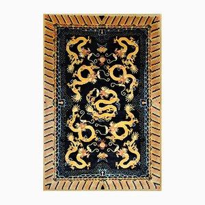 Tappeto vintage con draghi, Cina