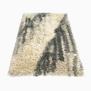 Vintage Scandinavian Abstract Rya Rug from Ege Taepper, 1960s