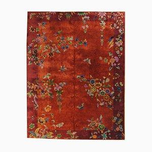 Chinesischer Vintage Art Deco Teppich