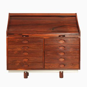 Rosewood Secretaire by Gianfranco Frattini for Bernini, 1960s