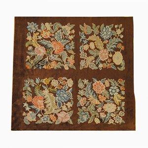 Alfombra Art Déco vintage floral de Savonnerie
