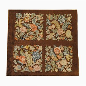 Vintage Art Deco Floral Rug from Savonnerie