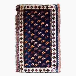 Antique Handmade Persian Luri Bagface Rug, 1890s