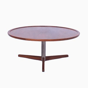 Vintage Round Teak and Metal Coffee Table by Martin Visser for 't Spectrum, 1960s