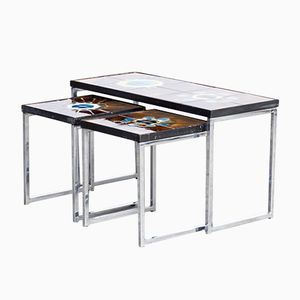 Hand-Painted Nesting Tables by Juliette Belarti, 1960s