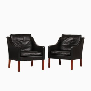 2207 Lounge Chairs by Børge Mogensen for Fredericia, 1988, Set of 2