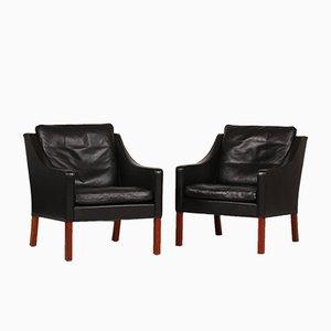 2207 Sessel von Børge Mogensen für Fredericia, 1988, 2er Set