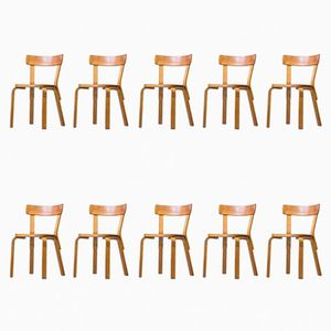Vintage No. 69 Chairs by Alvar Aalto for Artek, Set of 10
