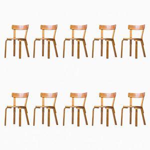 Vintage Nr. 69 Stühle von Alvar Aalto für Artek, 10er Set
