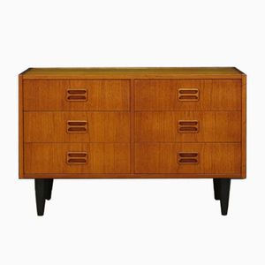 Vintage Danish Teak Veneer Chest of Drawers from TH Jull