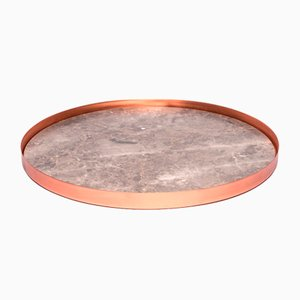 Bandeja Full Moon grande de cobre y mármol de Elisa Ossino para Paola C.