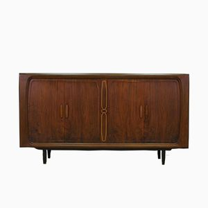 Vintage Danish Walnut Veneer Sideboard