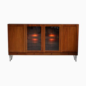 Mid-Century Danish Teak Veneer Highboard
