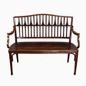 Bentwood Bench with Armrest by Koloman Moser & Gustav Siegel for J&J Kohn, 1900s