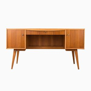 Walnut Veneered Desk from Hellerau, 1950s