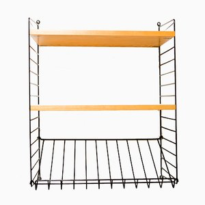 Shelf with Magazine Rack by Nisse Strinning for String, 1960s