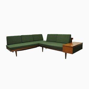 Sofá o sofá cama esquinero de teca, años 60