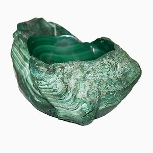 Malachite Vide-Poche or Ashtray, 1950s