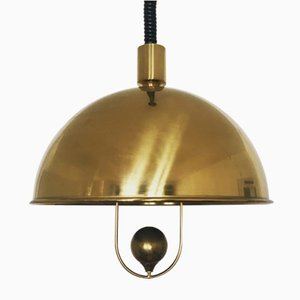 Mid-Century Brass Pendant Lamp by Florian Schulz, 1960s