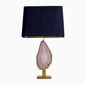 Belgian Agate Table Lamp by Christian Krekels , 1970s
