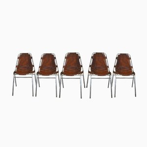 Les Arcs Chairs by Charlotte Perriand for Cassina, 1960s, Set of 5