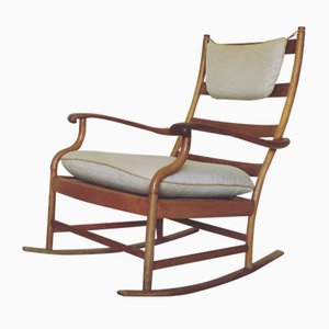 Scandinavian Oak Rocking Chair, 1950s