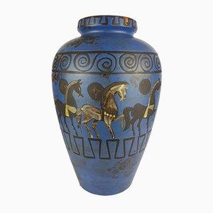 Vaso con decorazione Pergamo di Hans Welling per Ceramano, anni '60