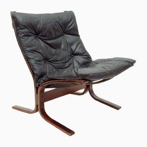 Norwegischer Siesta Stuhl aus Schichtholz & Leder von Ingmar Relling für Westnofa, 1960er