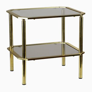 Brass and Smoked Glass Side Table, 1960s