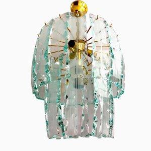 Murano Glass and Gilt Frame Chandelier, 1970s