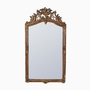 Antique Mirror with Carved Wooden Frame