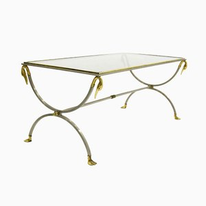 Mid-Century French Swan Coffee Table from Maison Jansen, 1960s