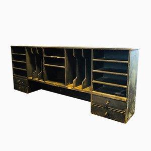 Antique Black Desk Etagere