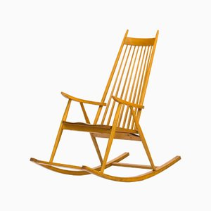 Finnish Rocking Chair by Varjosen Puunjalostus for Uusikyla, 1960s